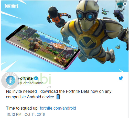 fortnite cho android chinh thuc mo cua phien ban open beta