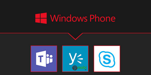 microsoft ngung ho tro skype for business teams va yammer cho windows phone