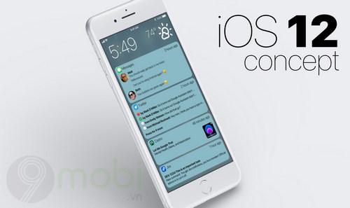 lo dien concept ios 12 khac phuc cac van de phien toai tren iphone