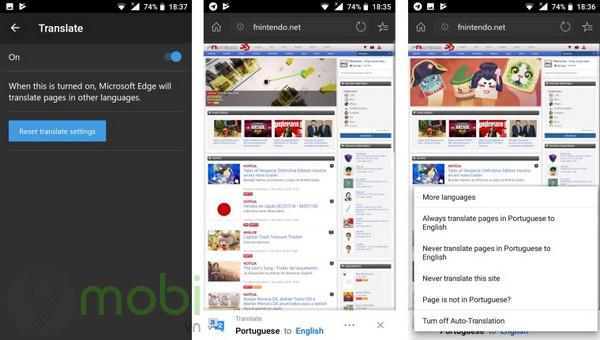 trinh duyet edge beta cho android co kha nang dich trang web