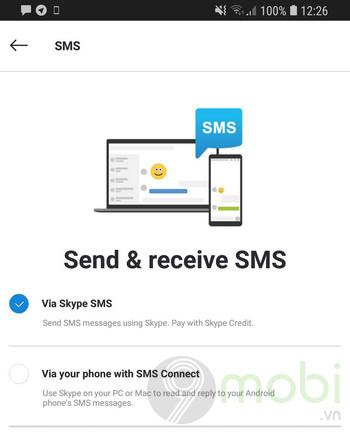 ban dung thu skype cho android va ios cho phep gui va nhan tin nhan sms