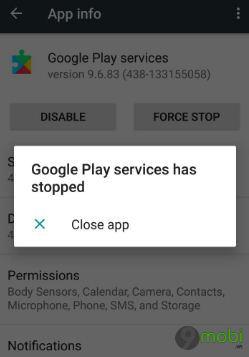 sua loi google play services ngung hoat dong