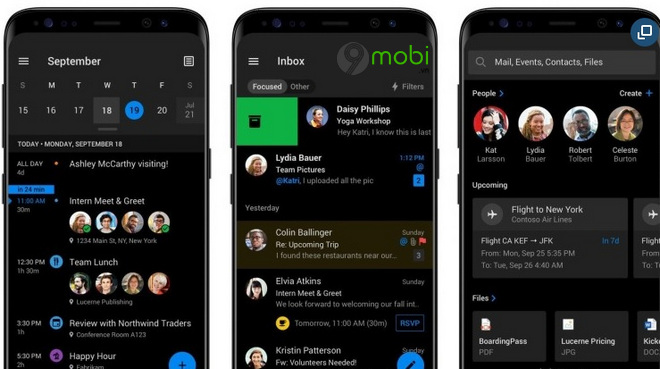 outlook cho android sap co che do dark mode