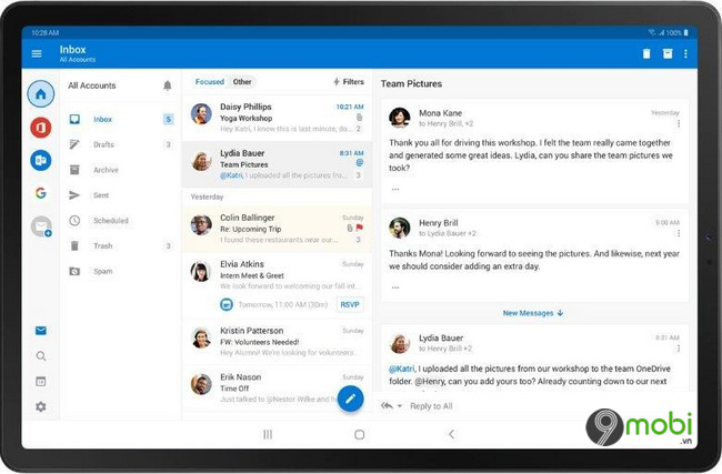 outlook trong office insider cho android duoc bo sung mot loat cai tien moi