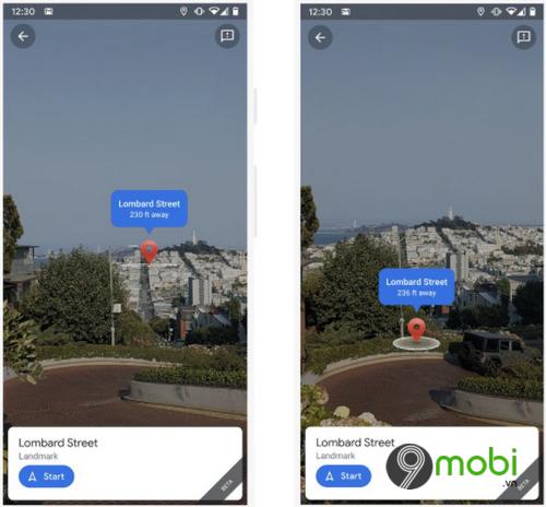 google maps bo sung cac cai tien moi cho tinh nang live view