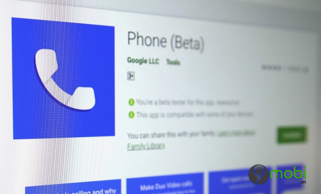 ung dung google phone beta hien co the duoc cai dat tren hau het smartphone android