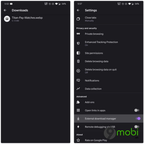 firefox 81 cho android bo sung trang download tu dong dong tab va mot so tinh nang khac