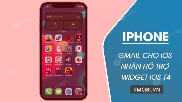 ban cap nhat gmail cho ios 14 nhan ho tro widget tren ios 14