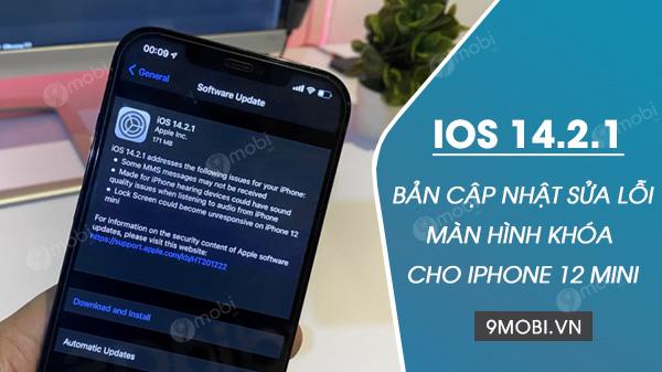 thong tin ban cap nhat ios 14 2 1 sua loi khoa man hinh cho iphone 12 mini