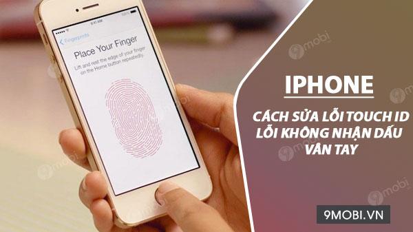 cach sua loi touch id cho iphone