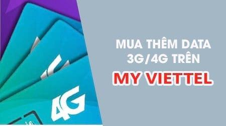 huong dan mua them data 3g 4g bang ung dung my viettel