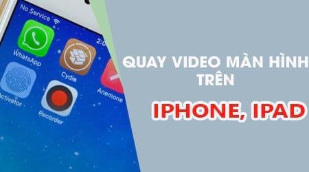 Hướng dẫn quay màn hình iPhone, iPad bằng AirShou
