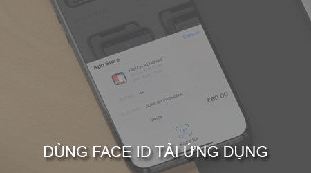 cach dung face id tai ung dung tren iphone x