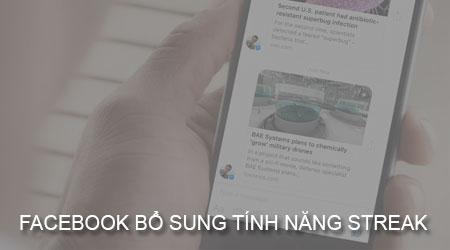 facebook bo sung streak giong snapchat