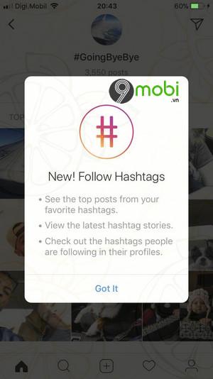 instagram ho tro nguoi dung theo doi hashtag
