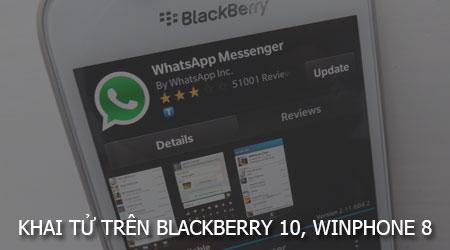WhatsApp ngưng hoạt động trên hệ điều hành BlackBerry 10