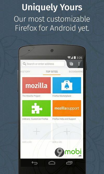 firefox beta cho android ho tro phat flac