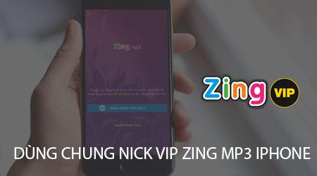 cach dung chung tai khoan vip zing mp3 tren iphone