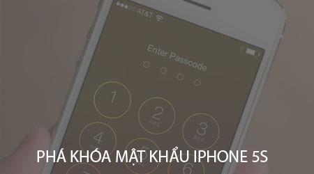 pha khoa mat khau iphone 5s khi bi vo hieu hoa nhu the nao