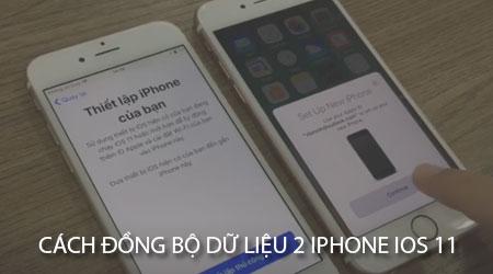 cach dong bo du lieu tai khoan icloud giua 2 iphone tren ios 11