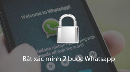 bat tat xac minh 2 buoc whatsapp tren iphone