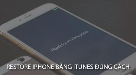 huong dan restore iphone bang itunes dung cach