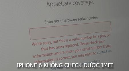 iphone 6 khong check duoc imei