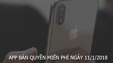 app ban quyen mien phi ngay 11 1 2018