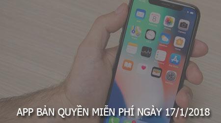 app ban quyen mien phi ngay 17 1 2018