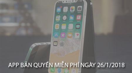 app ban quyen mien phi ngay 26 1 2018