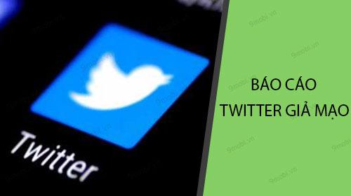 cach bao cao tai khoan twitter gia mao tren dien thoai fake twitter accounts