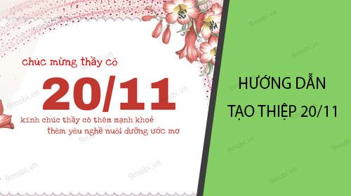 huong dan tao thiep 20 11 kem loi chuc tren dien thoai