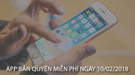 app ban quyen mien phi ngay 10 02 2018 cho iphone ipad
