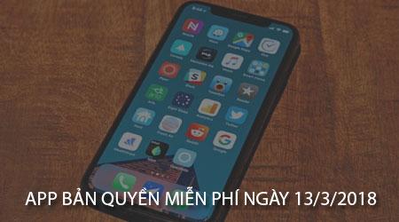 app ban quyen mien phi ngay 13 3 2018 cho iphone ipad