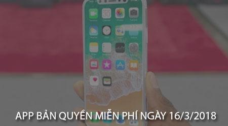 app ban quyen mien phi ngay 16 3 2018 cho iphone ipad
