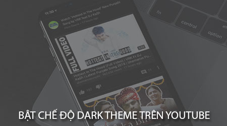 cach bat che do toi dark theme tren youtube cho dien thoai android iphone