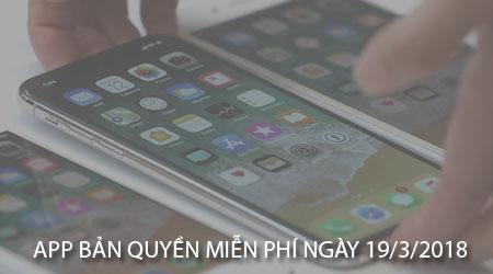 app ban quyen mien phi ngay 19 3 2018 cho iphone ipad