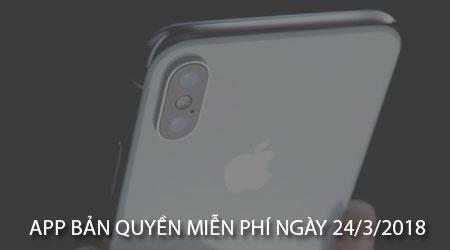 app ban quyen mien phi ngay 24 3 2018 cho iphone ipad