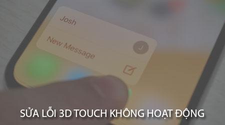 sua loi 3d touch khong hoat dong tren iphone 8 iphone x