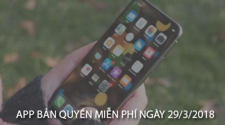 app ban quyen mien phi ngay 29 3 2018 cho iphone ipad