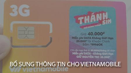 cach bo sung thong tin cho vietnamobile thanh sim