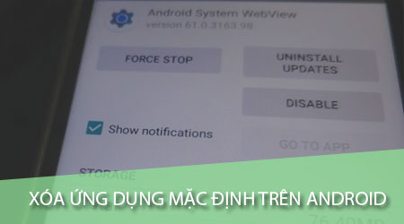 cach xoa ung dung mac dinh tren android