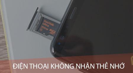 dien thoai khong nhan the nho nguyen nhan va cach khac phuc