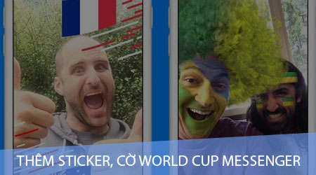 cach them sticker co world cup facebook messenger