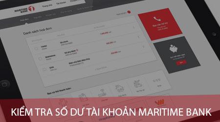 Cách kiểm tra số dư tài khoản Maritime Bank trên điện thoại