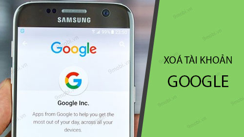 cach xoa tai khoan google tren dien thoai android