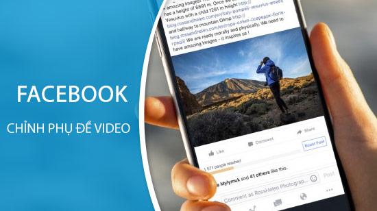 huong dan tuy chinh phu de video tren facebook