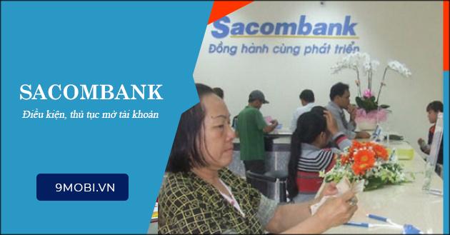Mở tài khoản Sacombank, thanh toán trực tuyến