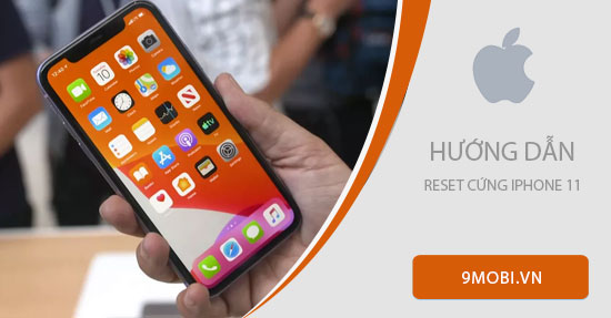 cach reset cung iphone 11