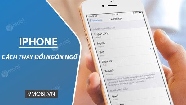 doi ngon ngu iphone